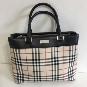 Authentic BURBERRY tote nova check canvas